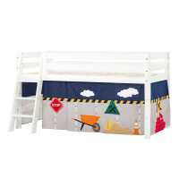 Hoppekids PREMIUM Halfhigh Bed with Construction Curtain