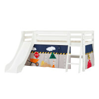 Hoppekids PREMIUM Halfhigh Bed with Slide and...