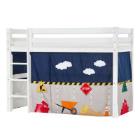 Hoppekids PREMIUM Midhigh Bed with Construction Curtain