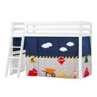 Hoppekids PREMIUM Mittelhochbett mit Construction Vorhang